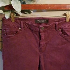 Liverpool Plum colored skinny jeans